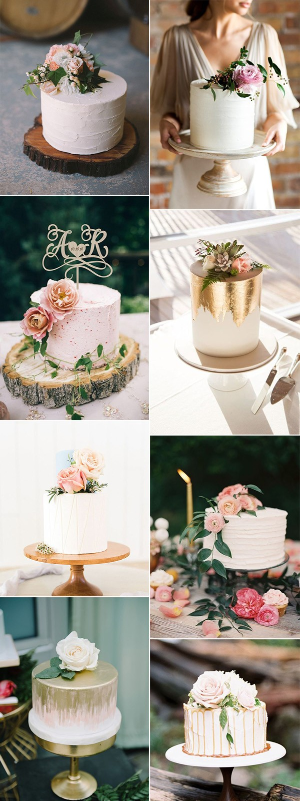 trending chic single layer wedding cakes for 2019
