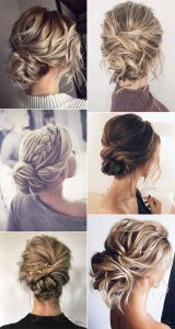 trending messy updo wedding hairstyles