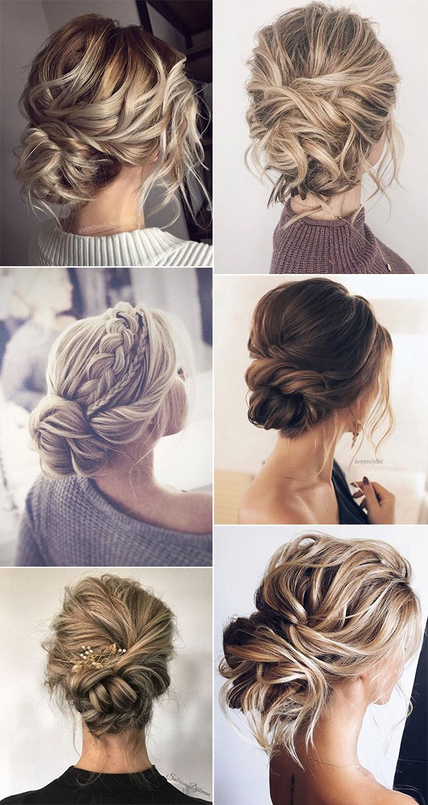 trending messy updo wedding hairstyles