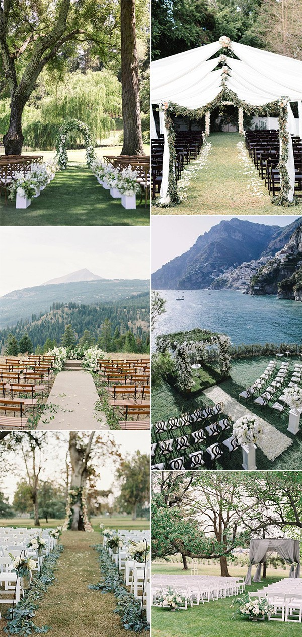 trending outdoor wedding ceremony ideas