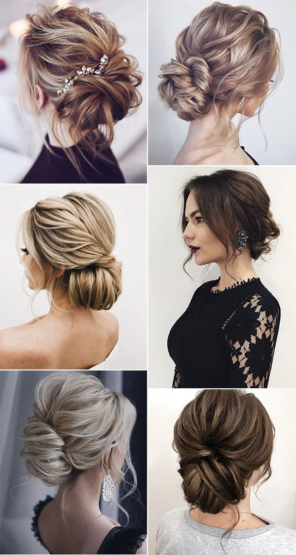 trending romantic messy updo wedding hairstyles