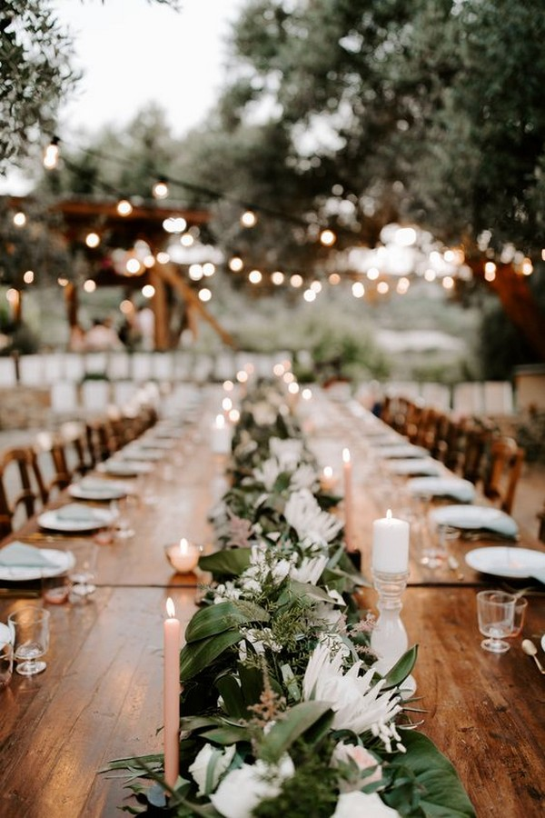 tropical outdoor wedding reception decoration ideas
