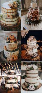 2019 trending fall wedding cakes
