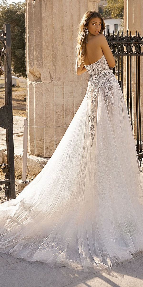 Berta 2019 wedding dress back view Style 19-105