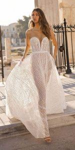 Berta deep v neck wedding dress style 19-106