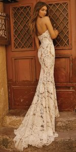 Berta lace wedding dress back view 2019 collection Style 19-120