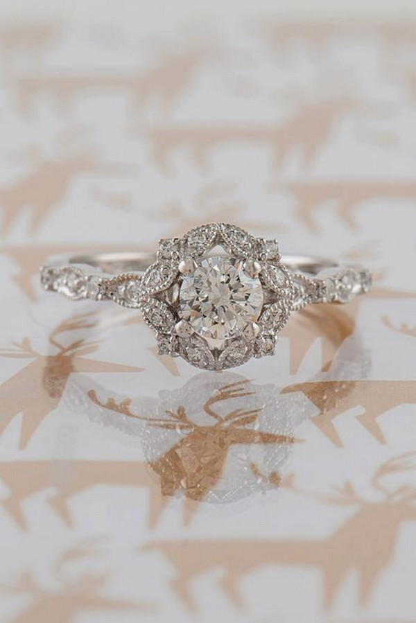 awesome vintage diamond engagement wedding ring