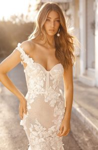 berta floral straps wedding dresses for fall and winter 2019 style19-101