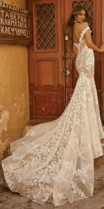 berta floral straps wedding dresses for fall and winter 2019 style19-101 back view