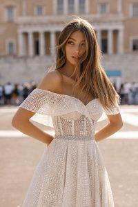 berta off the shoulder wedding dress Style 19-102