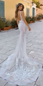 berta wedding dress 2019 collection back view Style 19-118