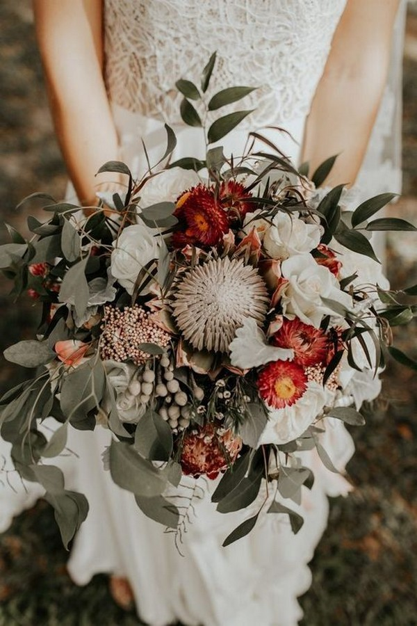 bohemian fall wedding bouquet ideas