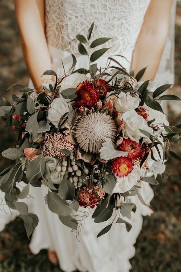 bohemian fall wedding bouquet ideas