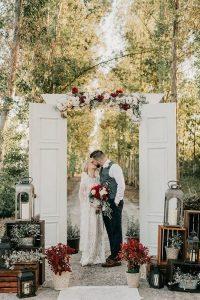 boho chic outdoor wedding ceremony entrance ideas