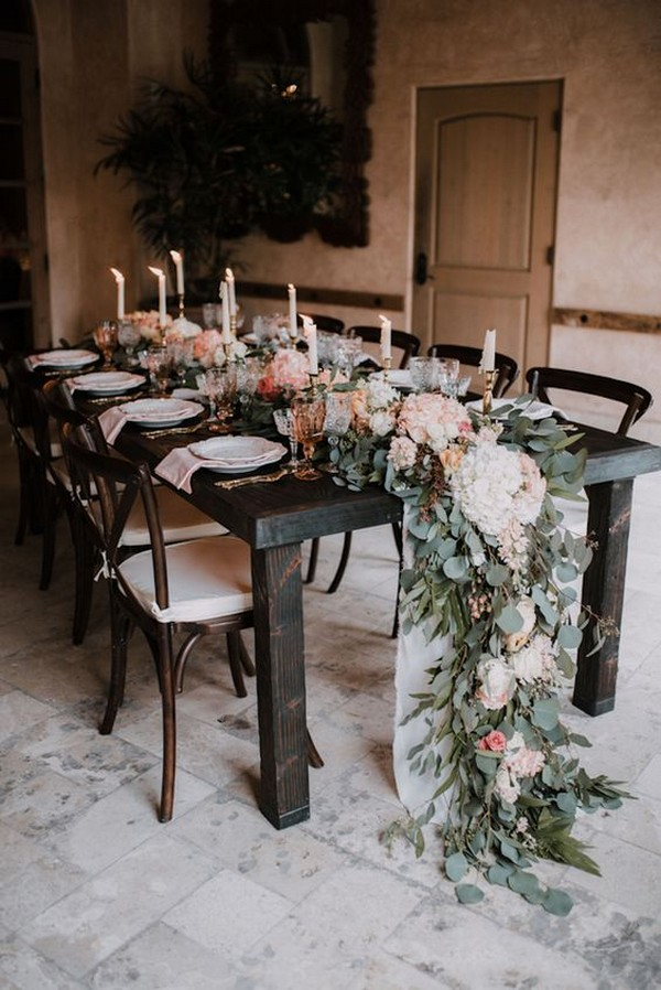 boho chic wedding table setting ideas