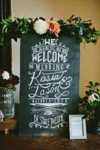 chalkboard chic wedding welcome sign ideas