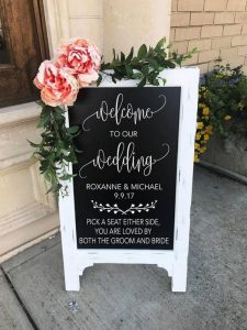 chalkboard wedding welcome sign ideas