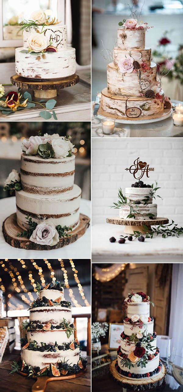 chic rustic fall wedding cakes for 2019
