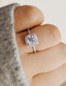 classic halo diamond wedding engagement ring