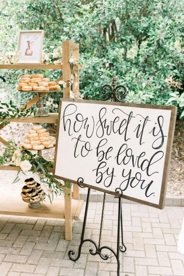 donut display ideas for fall wedding reception