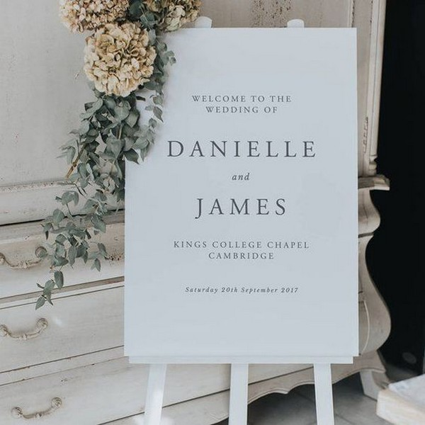 elegant modern wedding welcome sign ideas