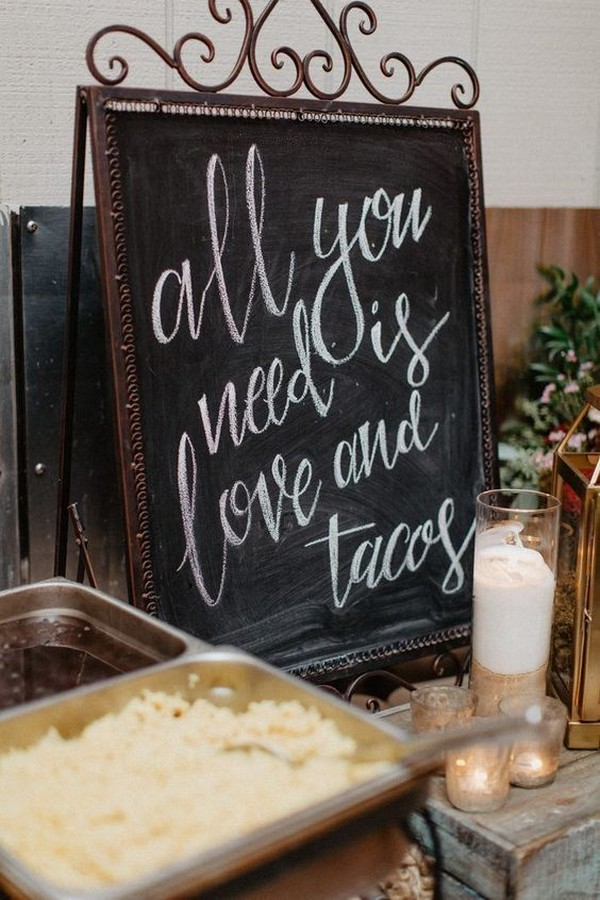 fall wedding food bar sign