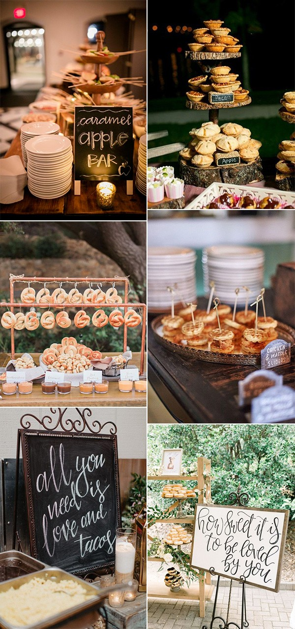 fall wedding food ideas