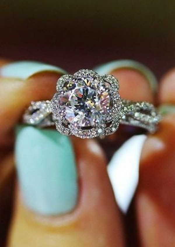 gorgeous twisted round diamond engagement ring