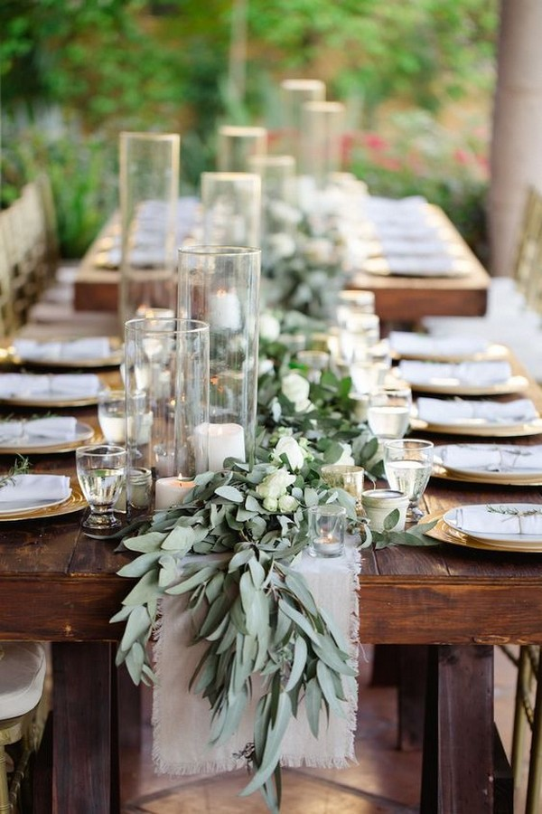 outdoor wedding centerpiece ideas