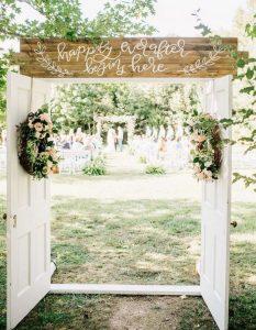 outdoor wedding ceremony entrance