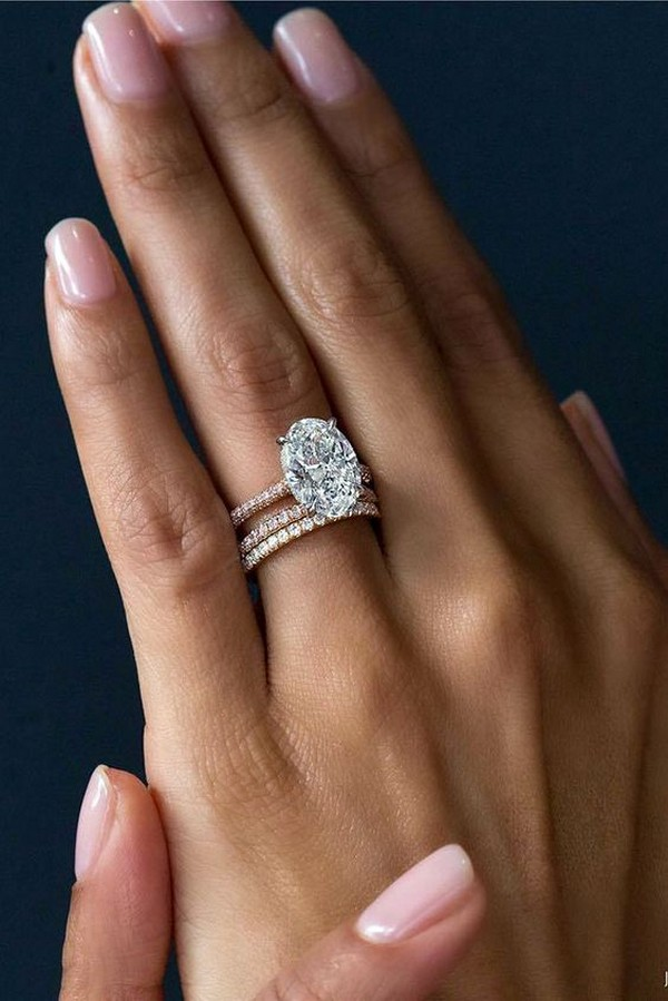 perfect rose gold oval diamond wedding engagement ring