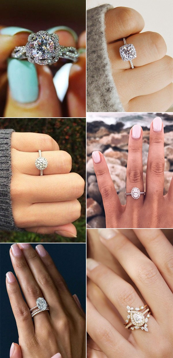 romantic wedding engagement rings for 2019 brides