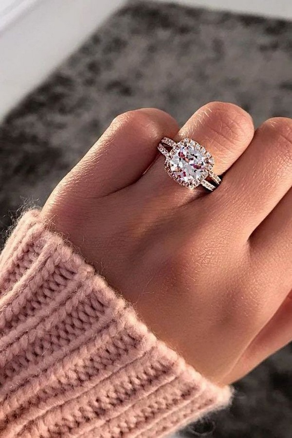 rose gold diamond wedding engagement ring