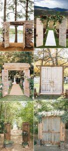 rustic old door wedding ceremony entrance ideas