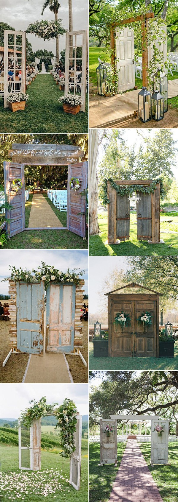 rustic outdoor wedding ceremony entrances