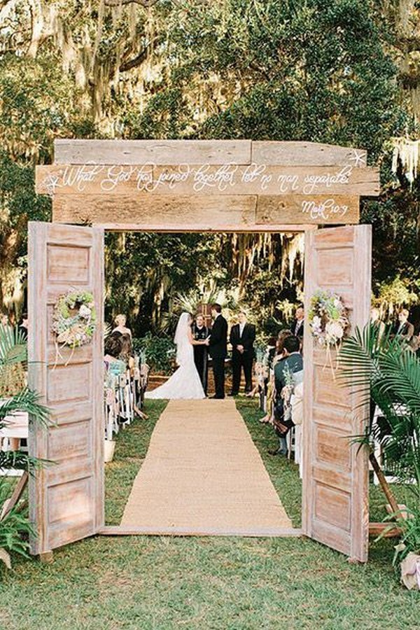 rustic wedding entrance ideas for outdoor weddings