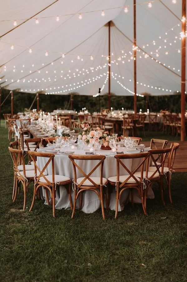 tented wedding reception ideas for fall