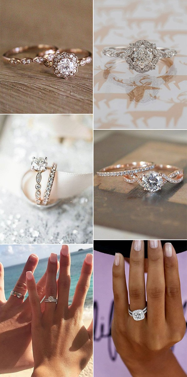 trendy pretty engagement wedding rings for 2019 brides