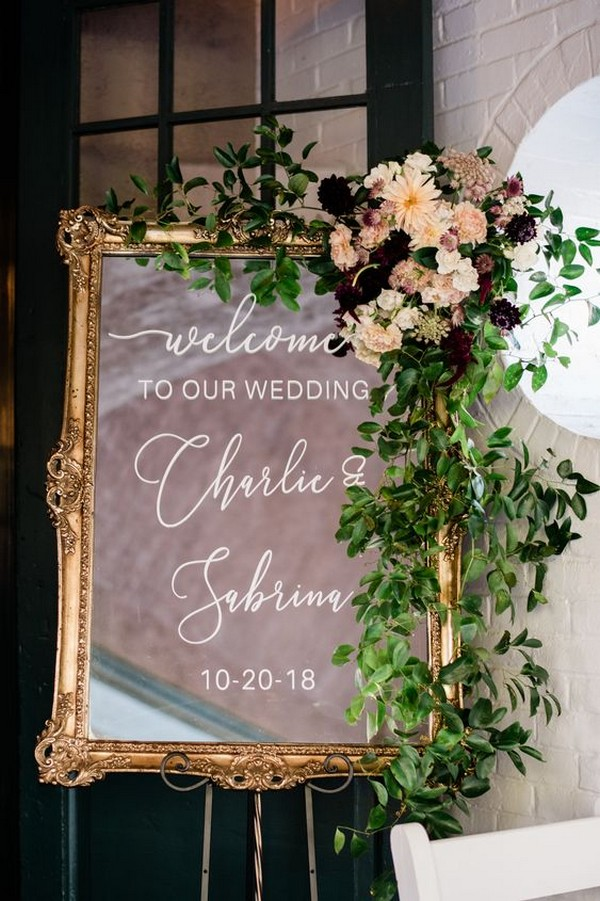 vintage wedding welcome sign ideas