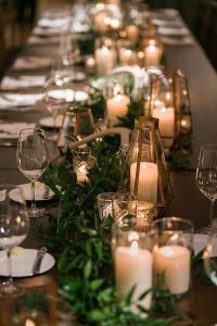 wedding centerpiece decoration ideas for long tabel