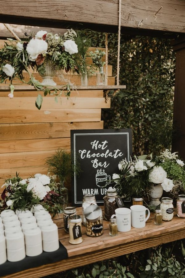 boho chic wedding drink station ideas