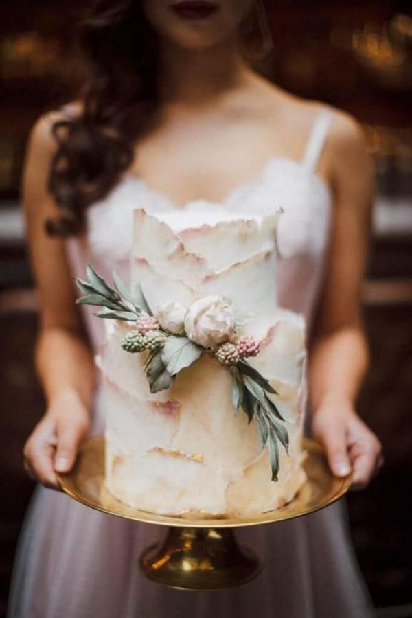 chic dusty rose wedding cake