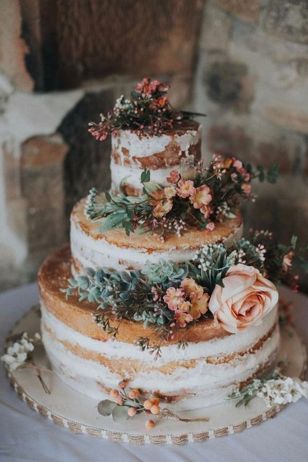 chic rustic wedding cake ideas