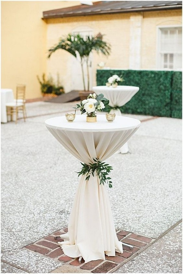 chic wedding cocktail table decoration ideas
