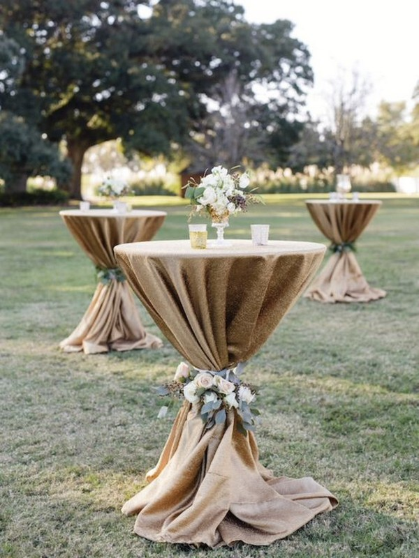 cocktail table ideas for outdoor weddings