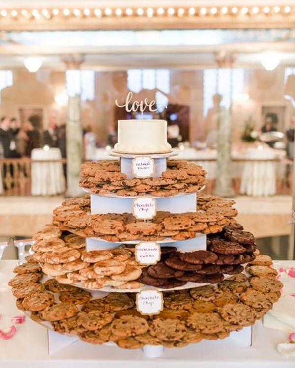 cookie tower wedding dessert display ideas
