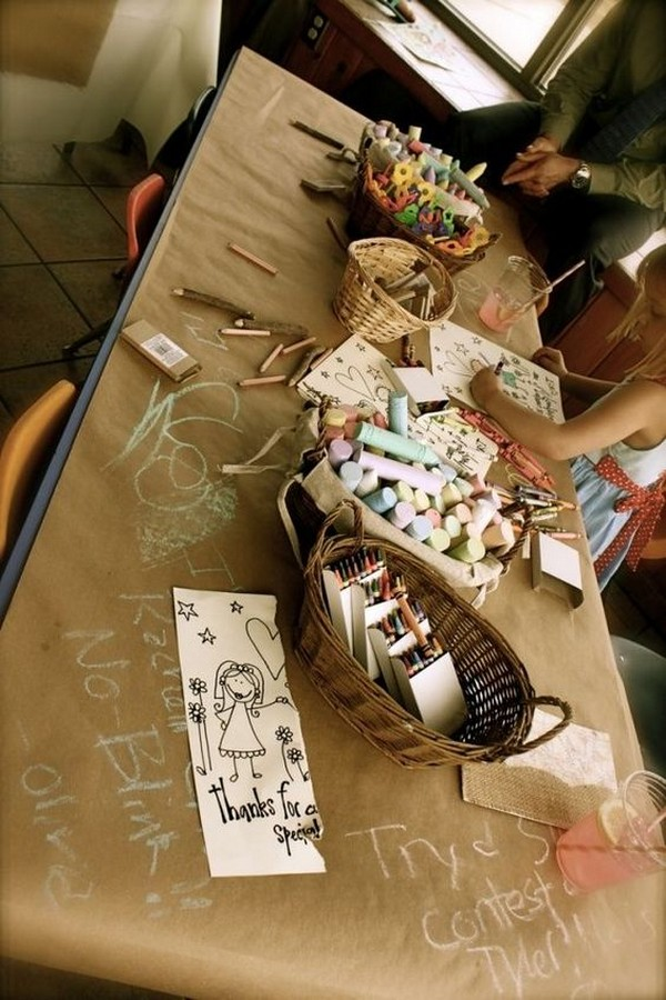 craft table wedding ideas for kids