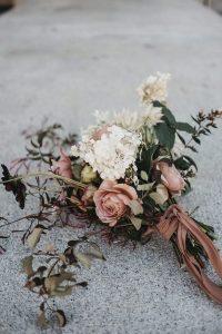 dusty rose fall wedding bouquet