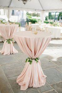 elegant blush pink wedding cocktail table ideas