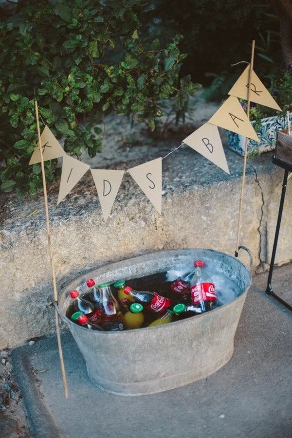 kids bar wedding reception ideas for children